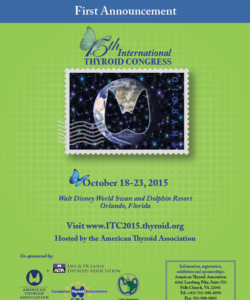 American Thyroid Association Brochure for ITC Meeting