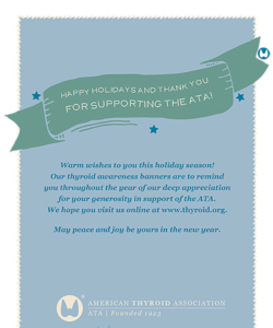 American Thyroid Association Holiday Card Cover