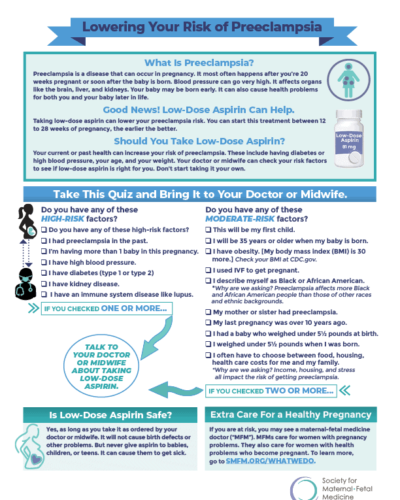 Society for Maternal-Fetal Medicine: Medicaid infographic
